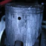 Zatarty cylinder za sprawą przegrzania i nieprawidłowego smarowania