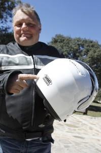 Lech Potyński, red. nacz. Świata Motocykli podczas testów BMW C650 GT