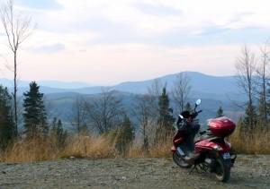 Widok na Beskid Sląski z przełęczy Salmopol