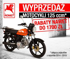 Wyprzedaż motocykli Romet 125 2015