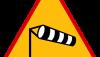 Znak A-19: boczny wiatr