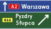 Znak E-2c: drogowskaz tablicowy umieszczany…
