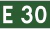 Znak E-16: numer szlaku międzynarodowego