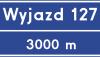 Znak E-20: tablica węzła drogowego na autostradzie