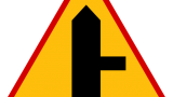 Znak A-6b: skrzyżowanie z drogą podporząd…