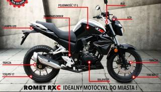 Romet RXC 125: Nowy motocykl na prawo jazdy B dla osób o dużym wzroście