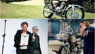 Romet Classic 400 z nagrodą Włodzimierza Zientarskiego na Motor Show Awards 2016