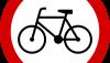 Znak B-9: zakaz wjazdu rowerów