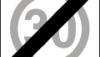 Znak B-44: koniec strefy ograniczonej prędkości