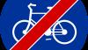 Znak C-13a: koniec drogi dla rowerów