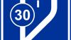 Znak D-13: początek pasa ruchu powolnego