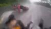 Jazda motocyklem w deszczu: Wspaniałe zachowanie kierowcy w czasie szlifu motocyklem
