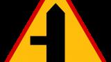 Znak A-6c: skrzyżowanie z drogą podporząd…