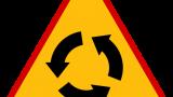 Znak A-8: skrzyżowanie o ruchu okrężnym