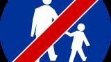 Znak C-16a: koniec drogi dla pieszych