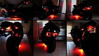 Podświetlenie podwozia motocykla lub skutera: Czy to jest legalne?