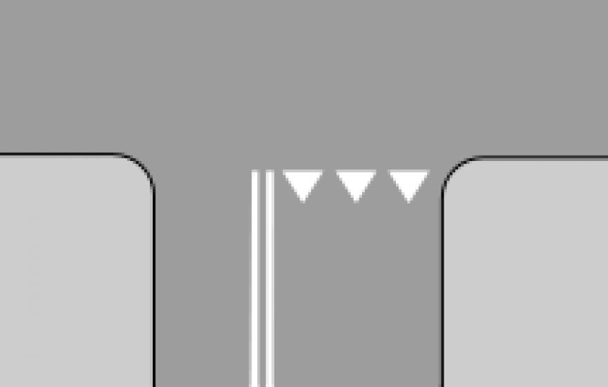 Znak P-13: linia warunkowego zatrzymania…