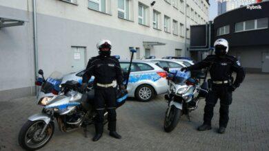 policja na motocyklach już na drogach