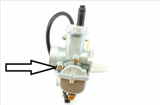 śruba regulacyjna mieszanki paliwo/powietrze