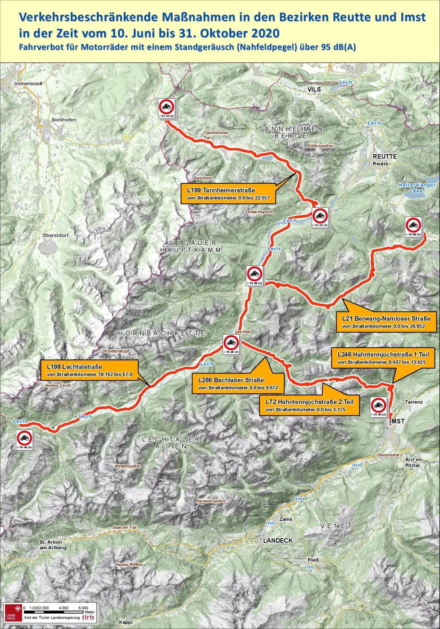 Tyrol. Tymi trasami już nie pojadą głośne motocykle