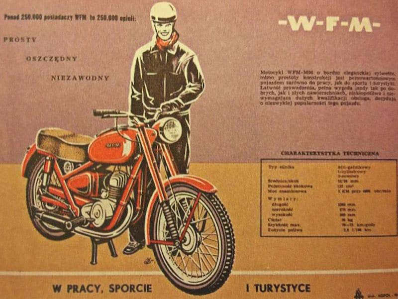Motocykl WFM, plakat