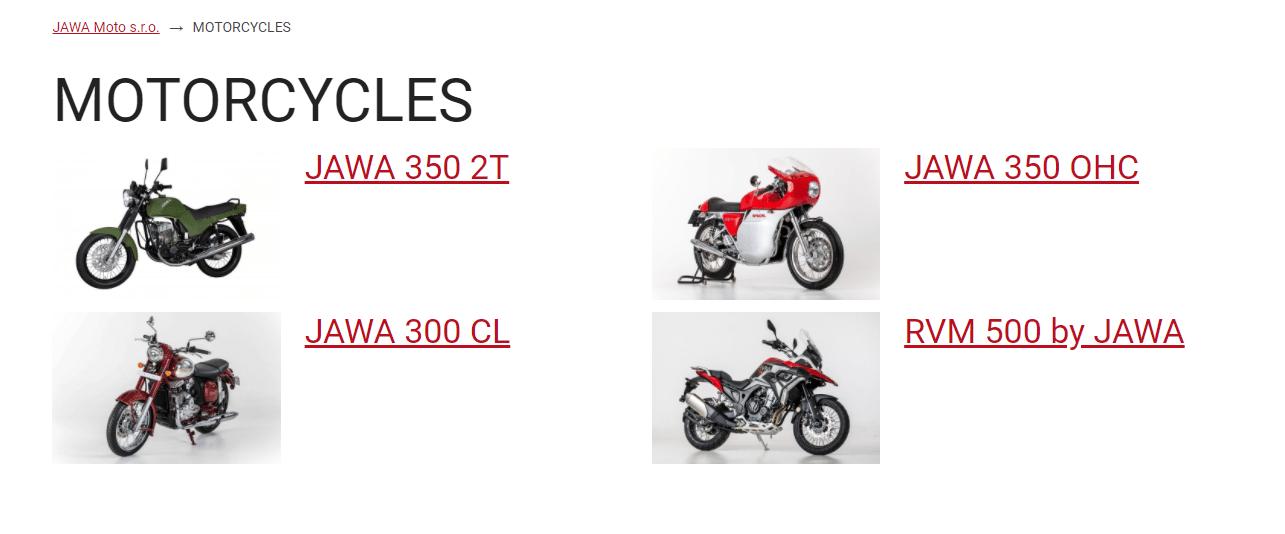 Motocykle Jawa