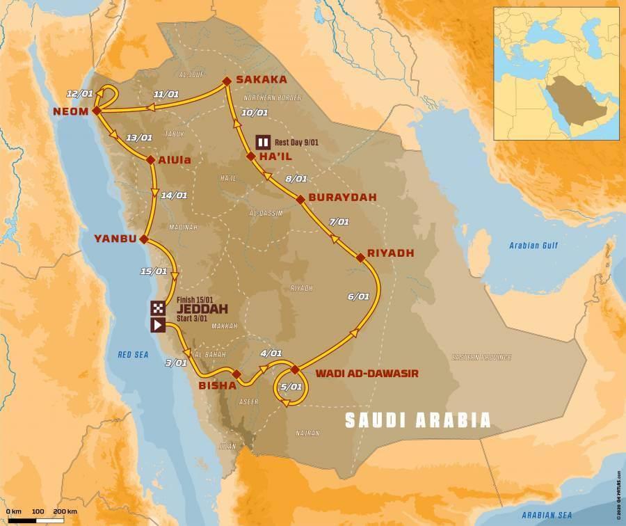 Trasa rajdu Dakar 2021