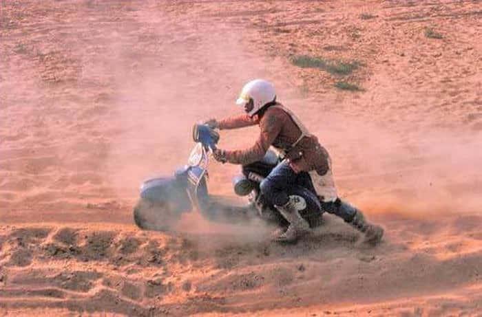 Skuter Vespa na Rajdzie Dakar (1980 rok)