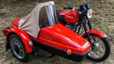 Jawa 350 TS z wózkiem bocznym