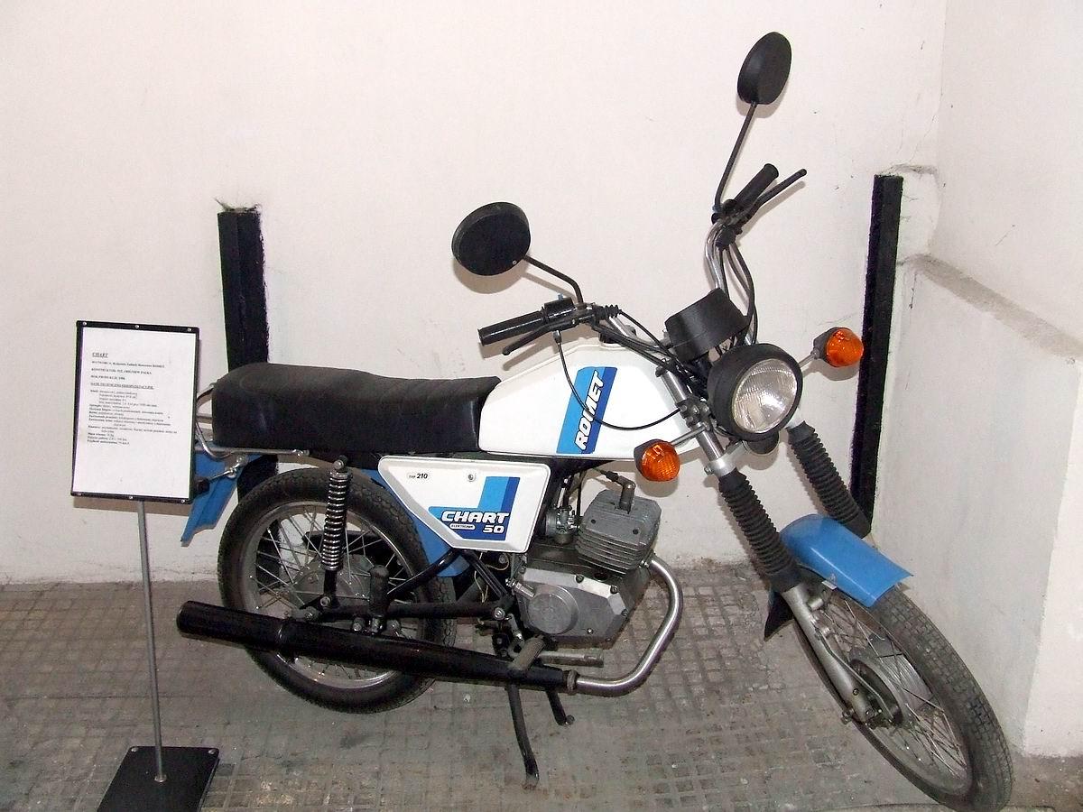 Motorower Romet Chart z 1988 w Muzeum Przemysłu w Warszawie Hubert Śmietanka - Praca własna